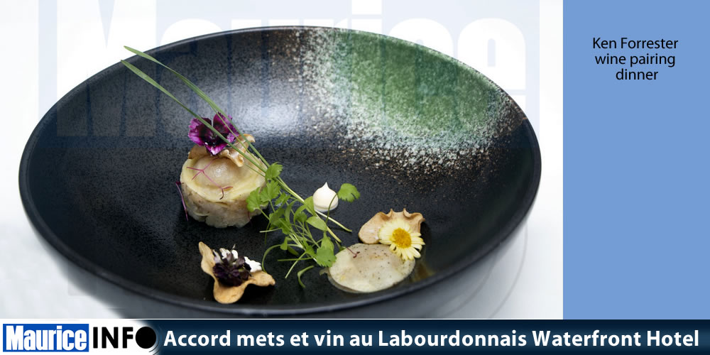 Accord mets et vin au Labourdonnais Waterfront Hotel