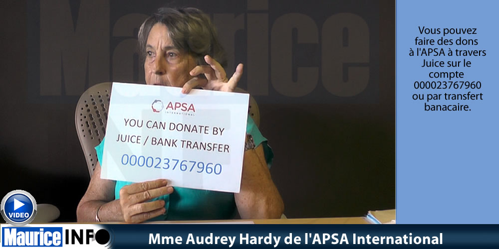 Mme Audrey Hardy d' APSA International