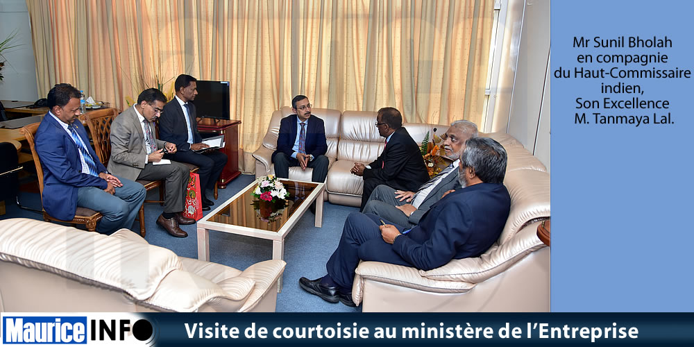 Visite de courtoisie au ministère de l'Entreprise