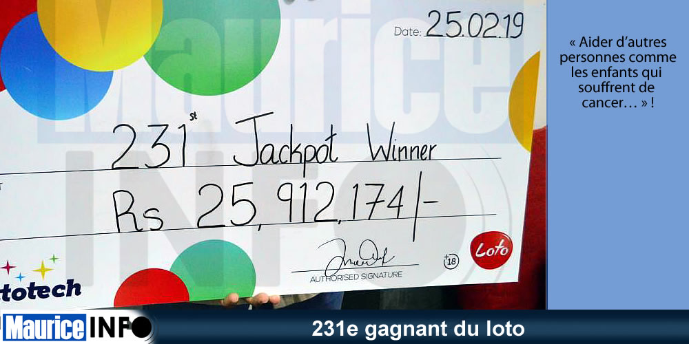 231e gagnant du loto