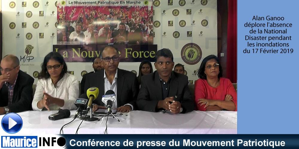 Conférence de presse du Mouvement Patriotique du 19 Février 2019