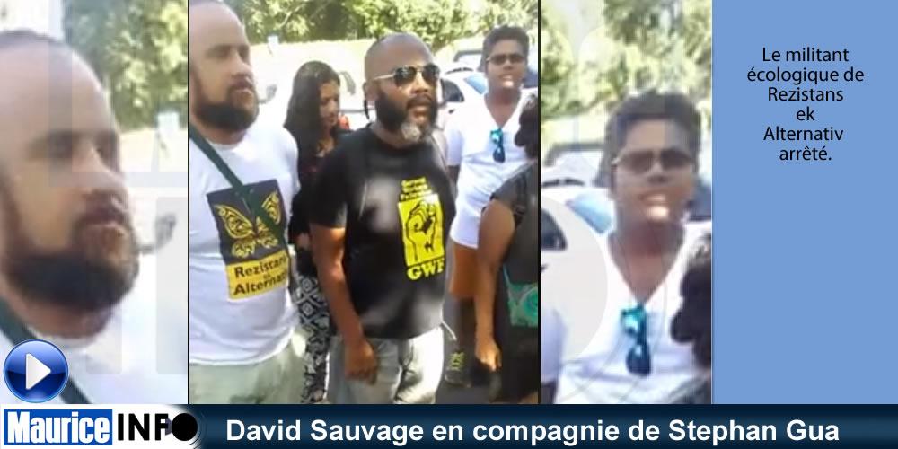 David Sauvage en compagnie de Stephan Gua