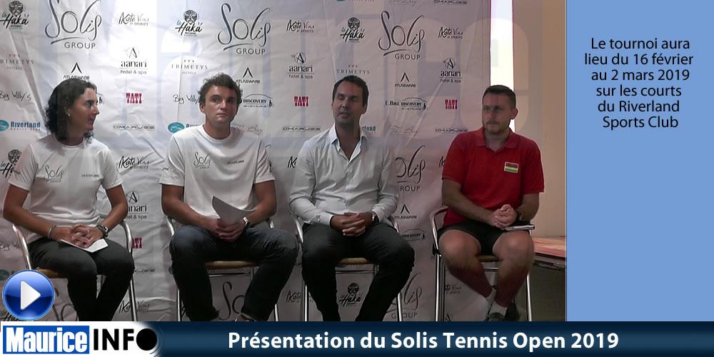 Présentation du Solis Tennis Open 2019