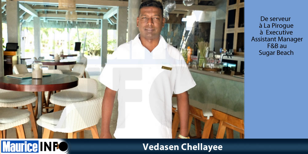 Vedasen Chellayee nouveau Executive Assistant Manager F&B au Sugar Beach.