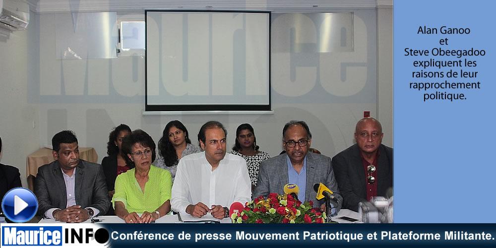Conférence de presse Mouvement Patriotique et Plateforme Militante