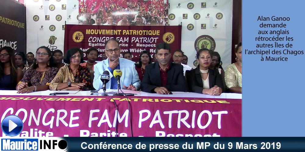 Conférence de presse du MP du 9 Mars 2019