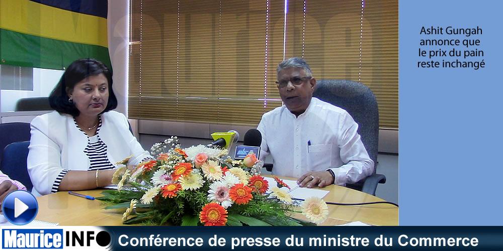 Conférence de presse du ministre du Commerce