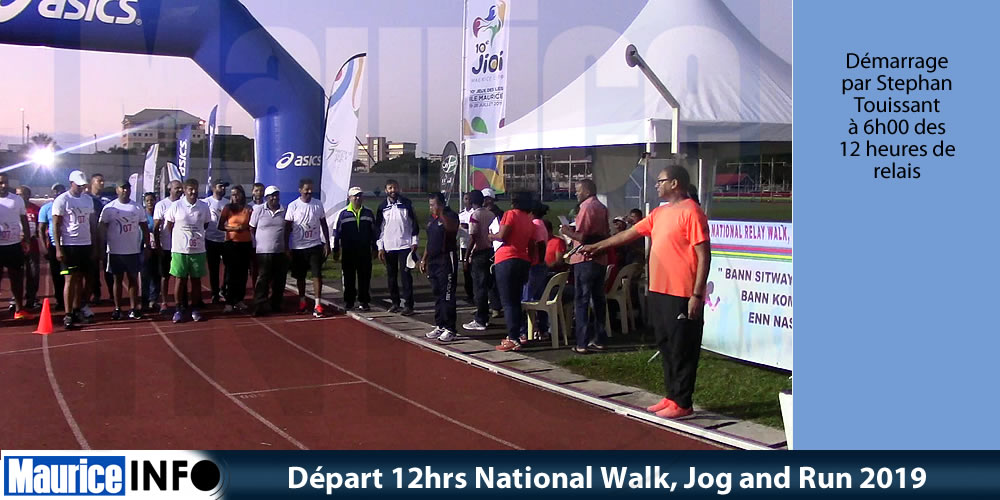 Départ 12hrs National Walk Jog and Run 2019