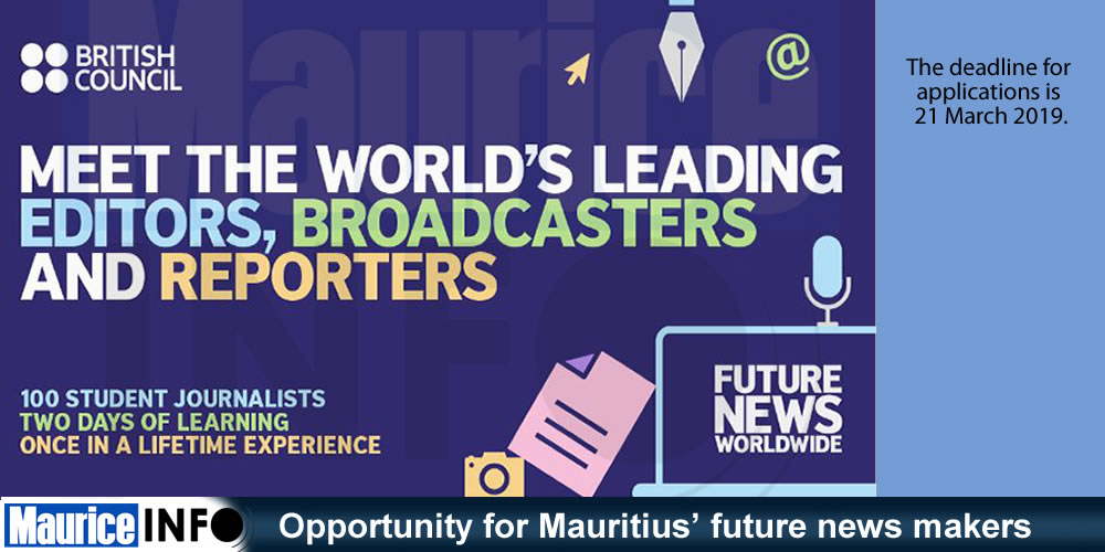 Opportunity for Mauritius future news makers