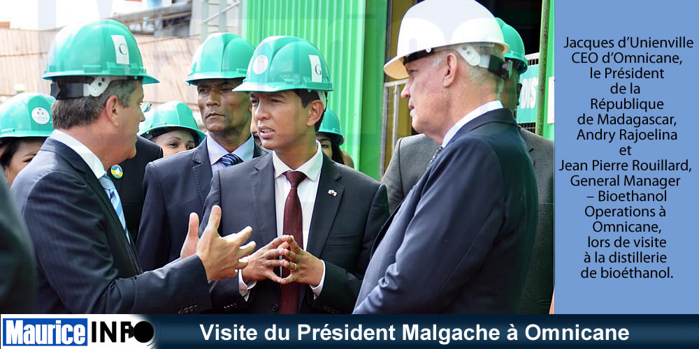Visite du Président Malgache à Omnicane