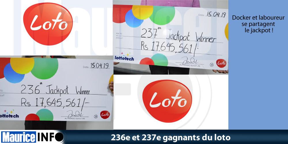 236e et 237e gagnants du loto