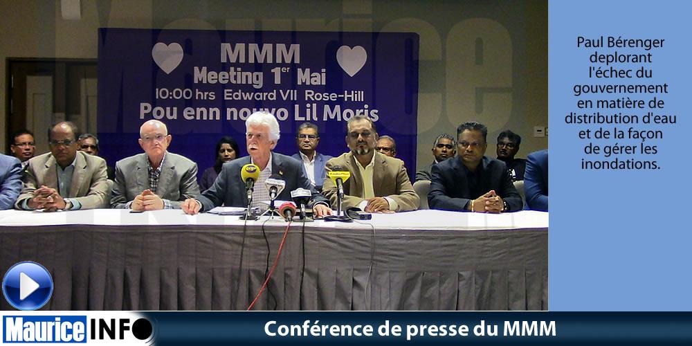 Conférence de presse du MMM du 14 AVril 2019