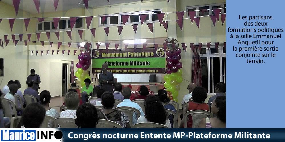 Congrès nocturne Entente MP-Plateforme Militante