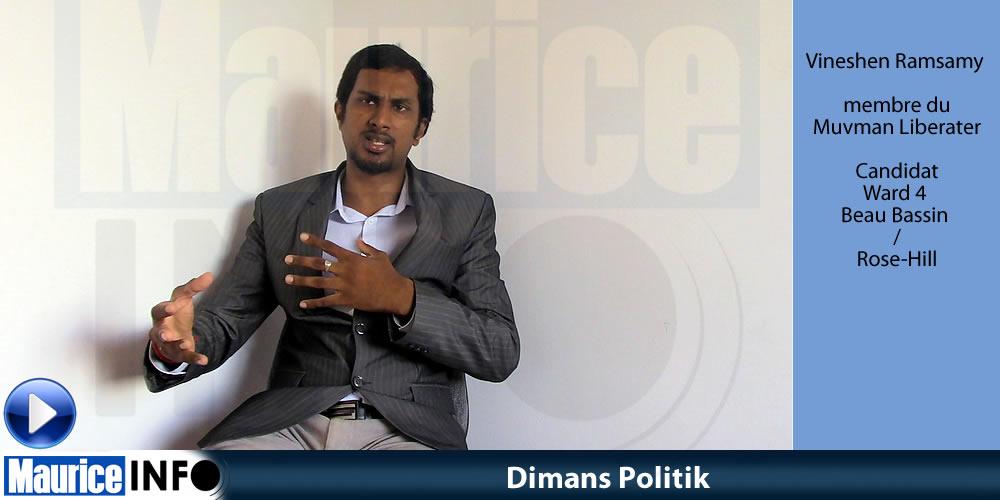 Dimans Politik de Vineshen Ramsamy