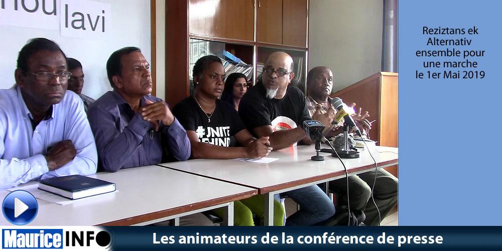 Les animateurs de la conférence de presse