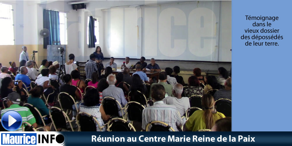 Réunion au Centre Marie Reine de la Paix