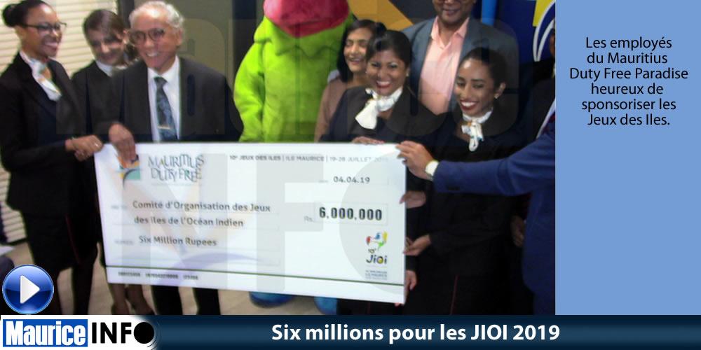 Six millions pour les JIOI 2019