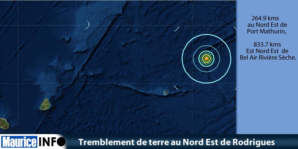 Tremblement de terre au Nord Est de Rodrigues