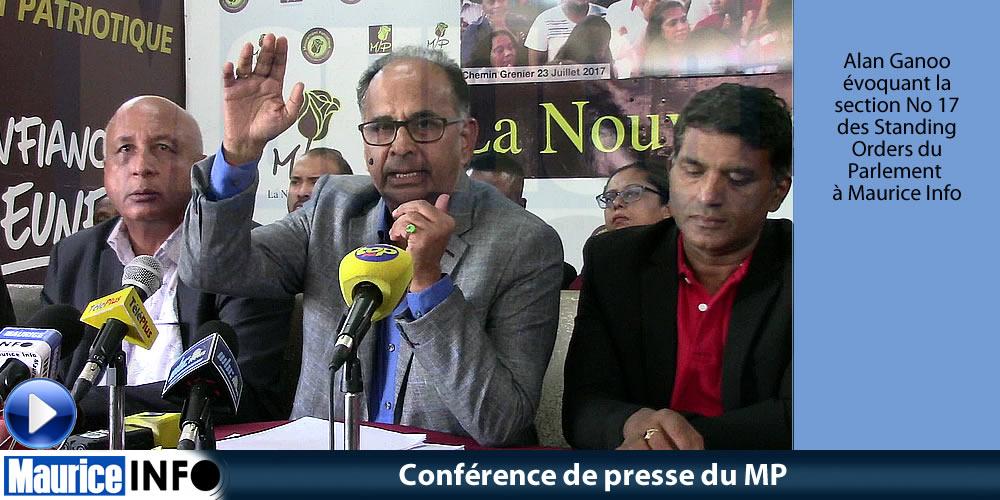 Conférence de presse du MP du 11 Mai 2019