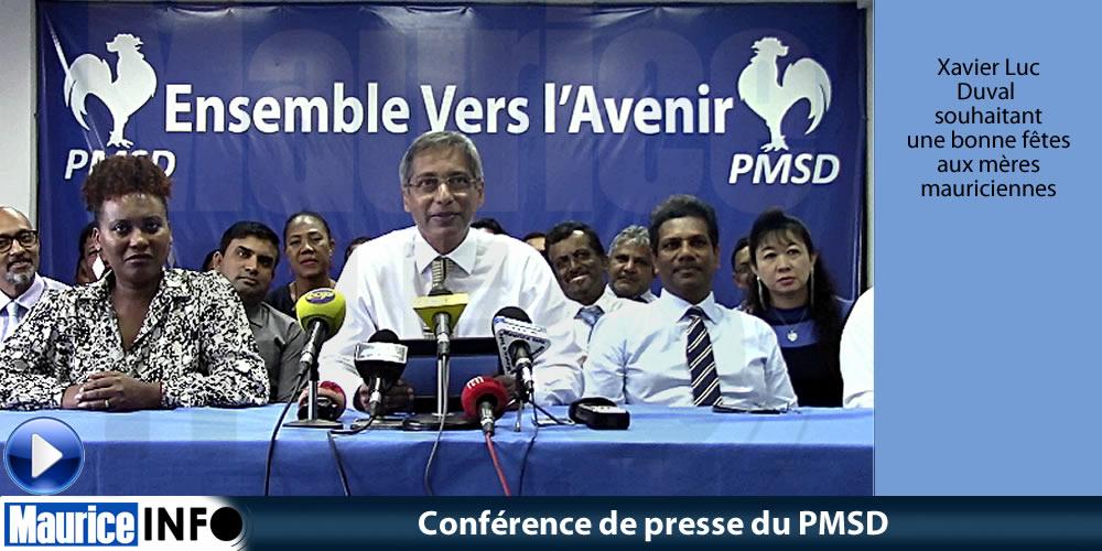 Conférence de presse du PMSD du 25 Mai 2019