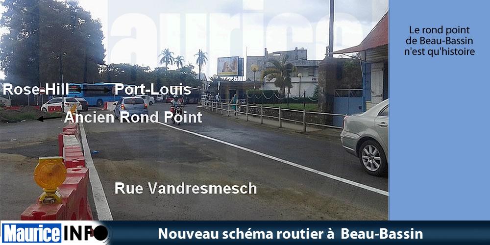 Nouveau schéma routier à Beau-Bassin
