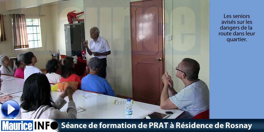 Séance de formation de PRAT à Résidence de Rosnay
