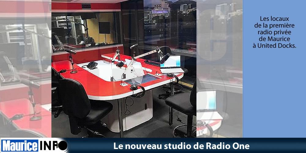 Le nouveau studio de Radio One © Elvis Quenette