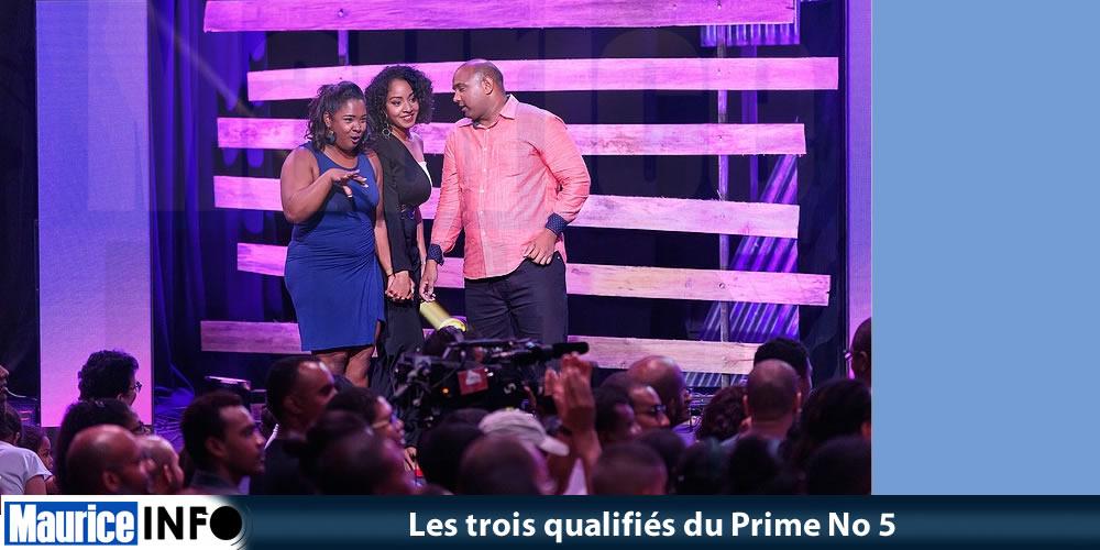 Les trois qualifiés du Prime No 5