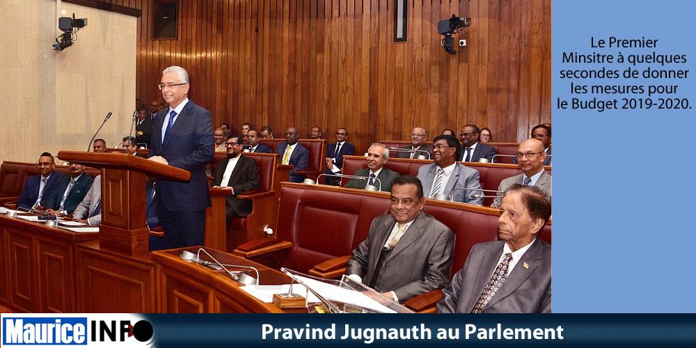 Pravind Jugnauth au Parlement