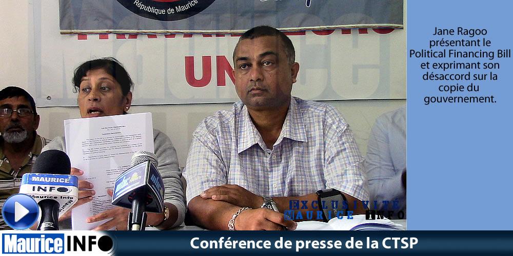 Conférence de presse de la CTSP