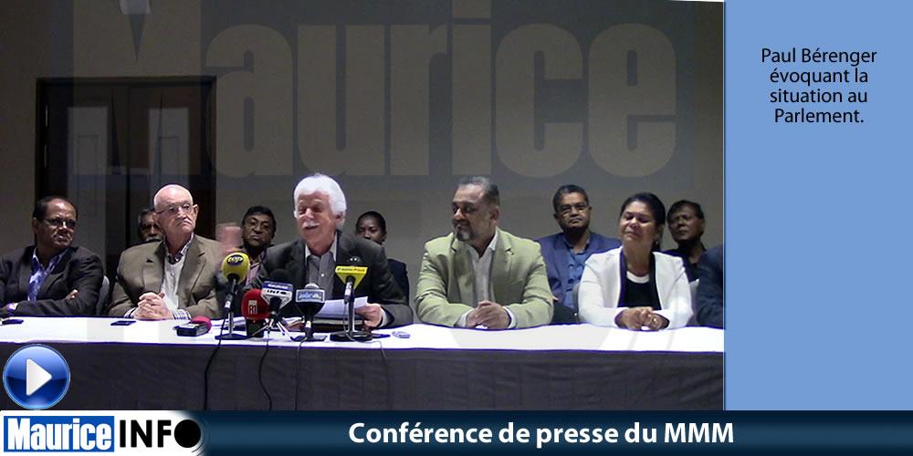 Conférence de presse du MMM du 20 Juillet 2019