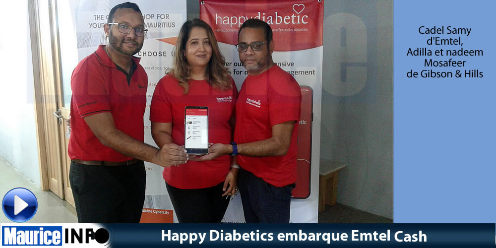 Happy Diabetics embarque Emtel Cash