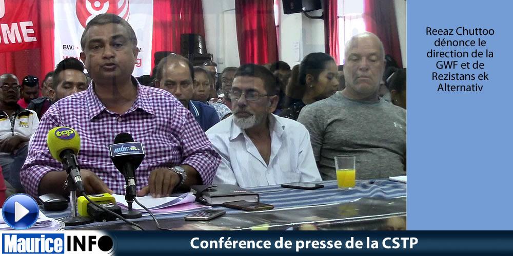 Conférence de presse de la CSTP