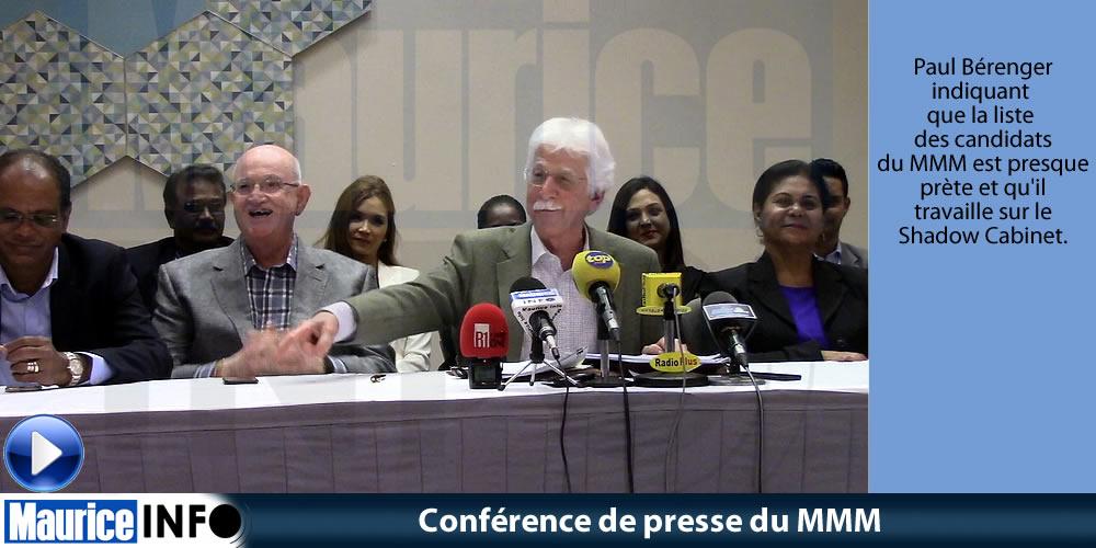 Conférence de presse du MMM du 10 Aout 2019