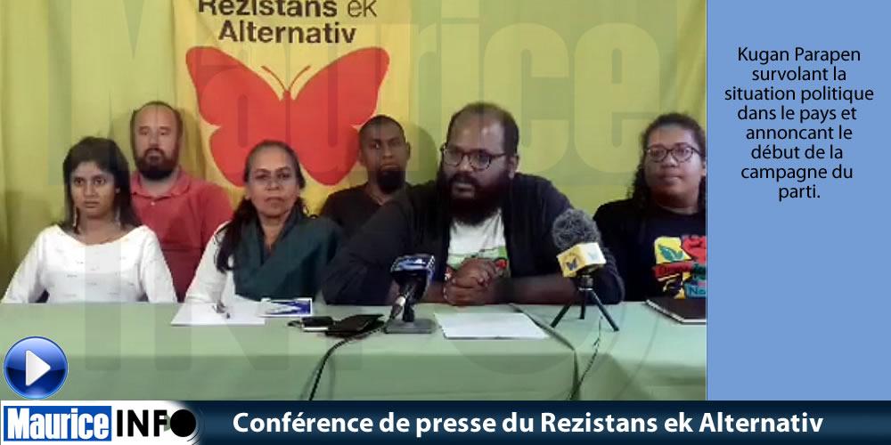 Conférence de presse du Rezistans ek Alternativ du 10 Août 2019