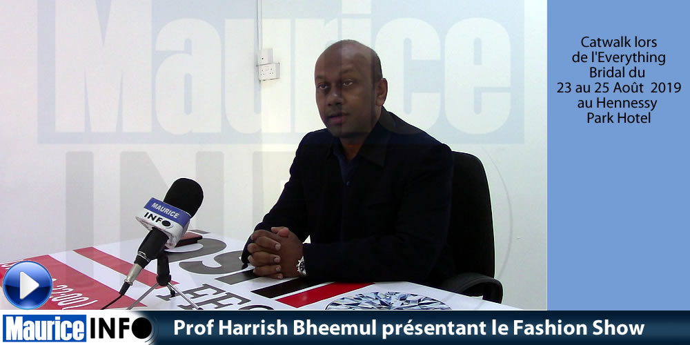 Prof Harrish Bheemul présentant le Fashion Show