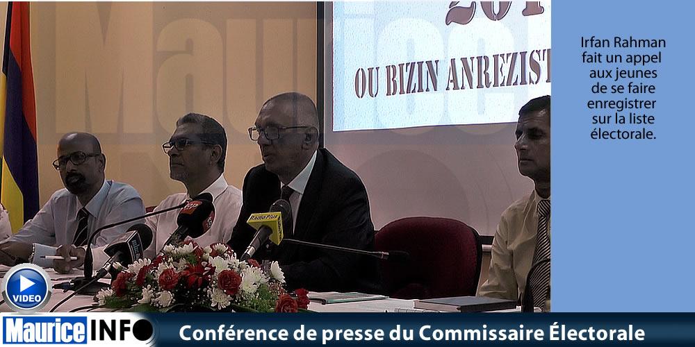 Conférence de presse du Commissaire Électorale