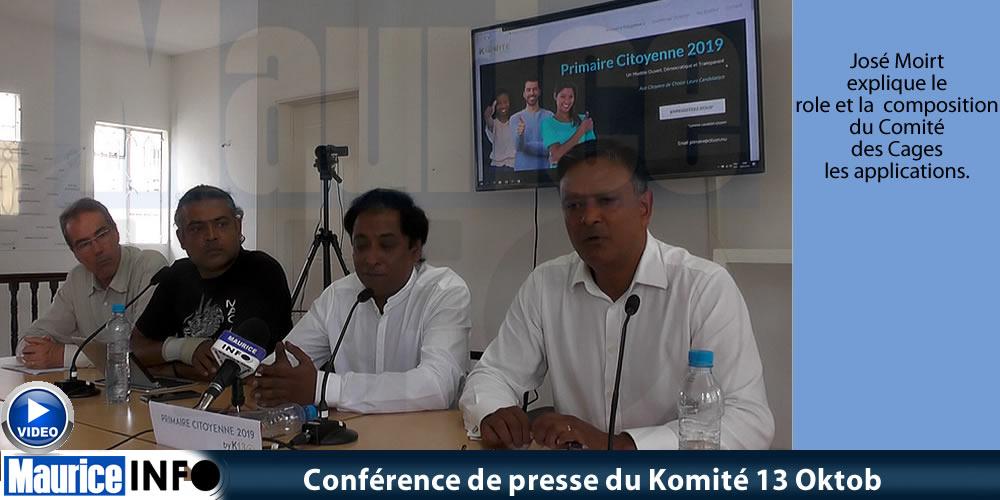 Conférence de presse du Komité 13 Oktob