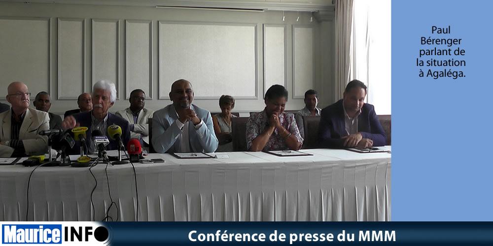 Conférence de presse du MMM du 12 Janvier 2019