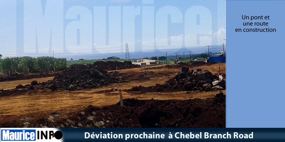 Déviation prochaine à Chebel Branch Road