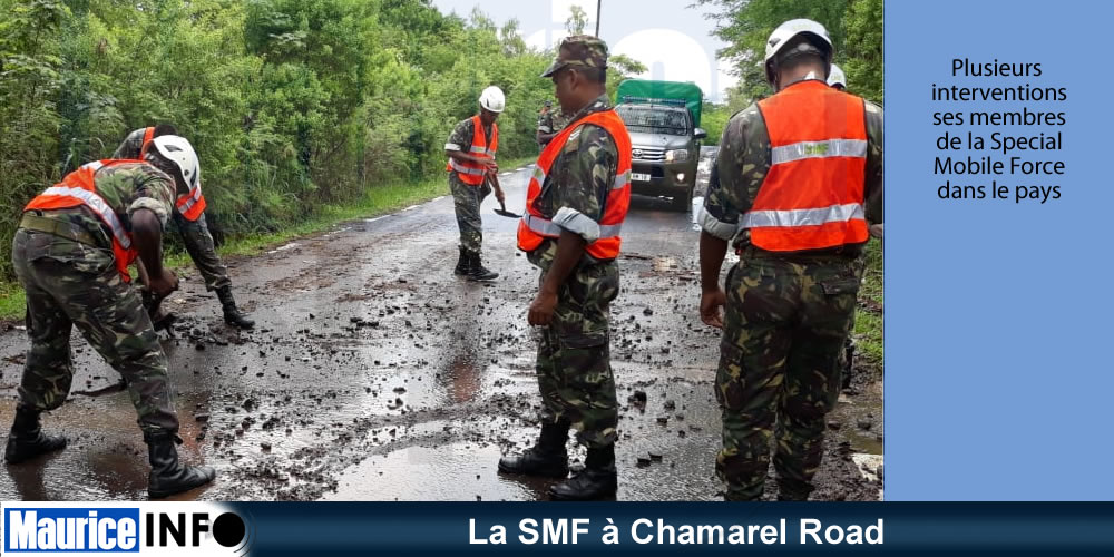 La SMF à Chamarel Road
