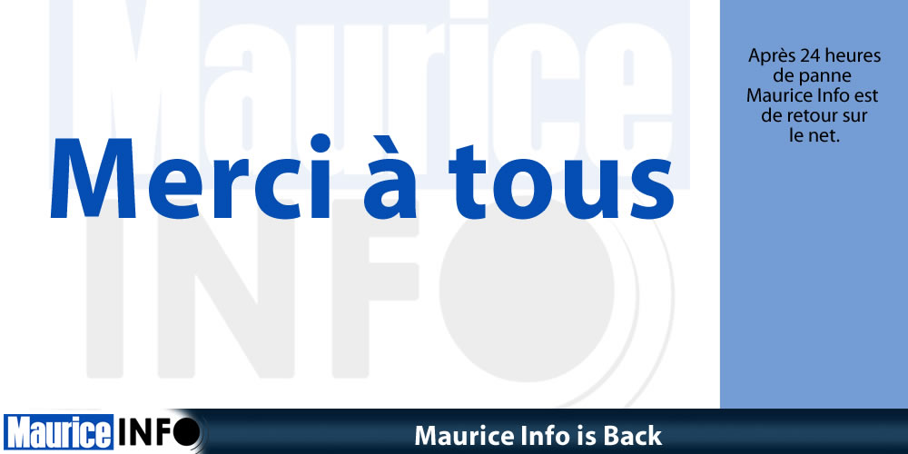 Maurice Info is Back
