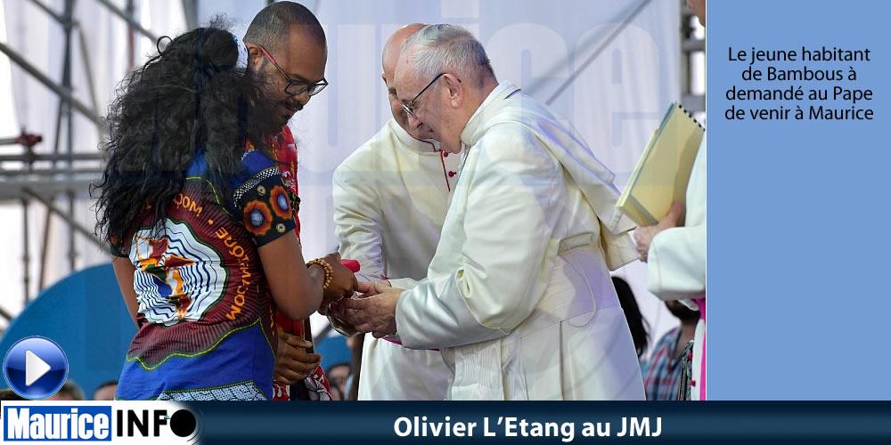 Olivier L'Etang au JMJ