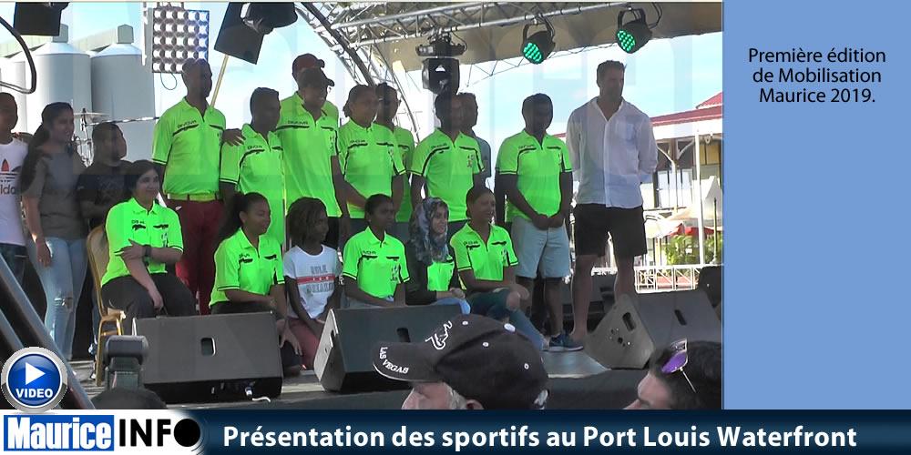 Présentation des sportifs au Port Louis Waterfront