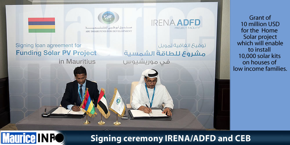 Signing ceremony IRENA-ADFD and CEB