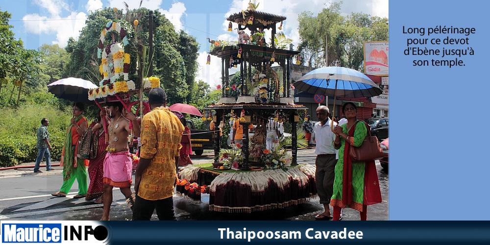Thaipoosam Cavadee à Ébène