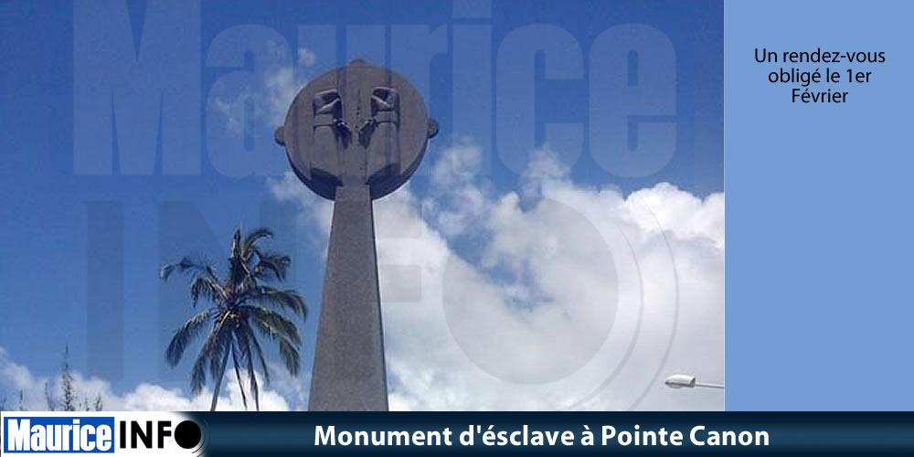 Monument d' ésclave à Pointe Canon