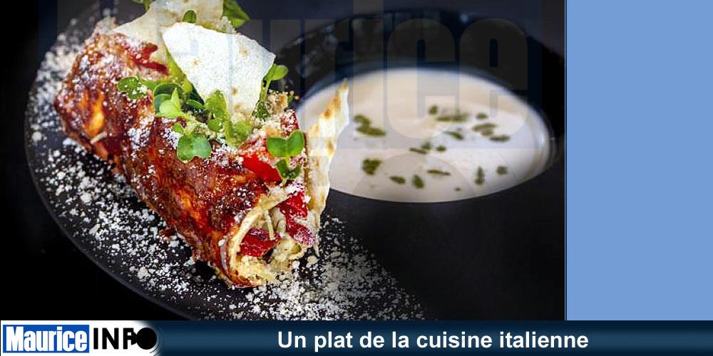 Un plat de la cuisine italienne