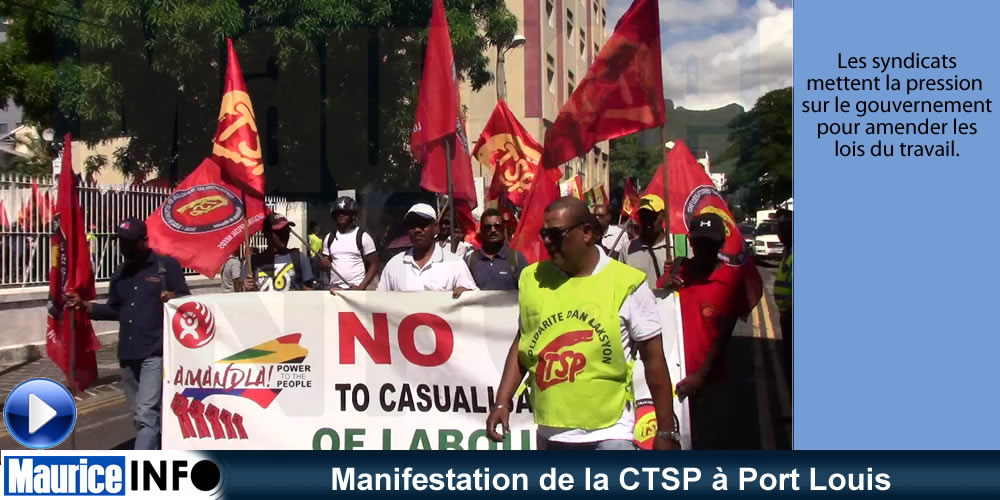 Manifestation de la CTSP à Port Louis
