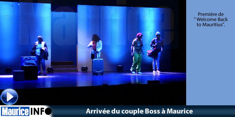 Arrivée du couple Boss à Maurice